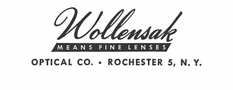 Wollensak 鏡頭列表